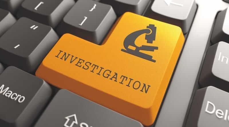 Die Entertaste einer Computertastatur mit der Aufschrift: Investigation