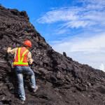 Geowissenschaftler im Geländeeinsatz