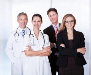 Ärzte in der Praxis, Klink und der Verwaltung