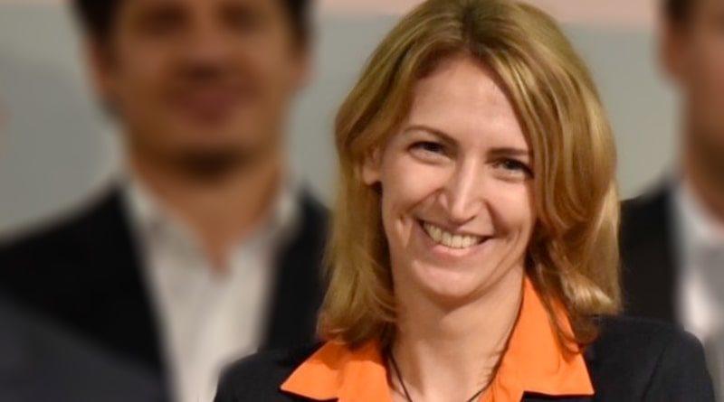 Dr. Eva Birkmann, CEO von jobvector, auf der Verleihung des jobboersenkompass 2018